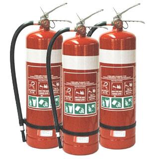4.5kg Dry Powder Fire Extinguishers x3