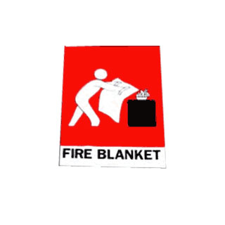 Fire Blanket Location Sign Angle
