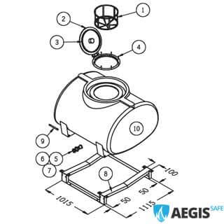 1000 Litre Spray Tank Steel Skid moreover 300 Litre Spray Tank Bare Strap as well  on wiring diagram for australian trailers