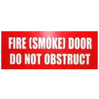 Sign Fire Door (Smoke) Red